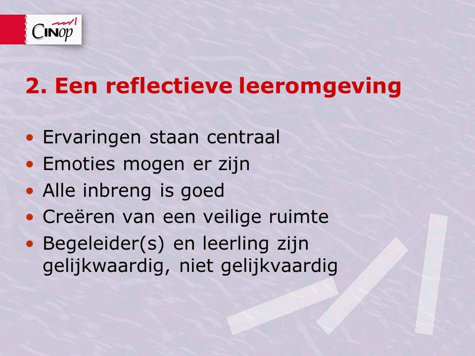 2. Een reflectieve leeromgeving