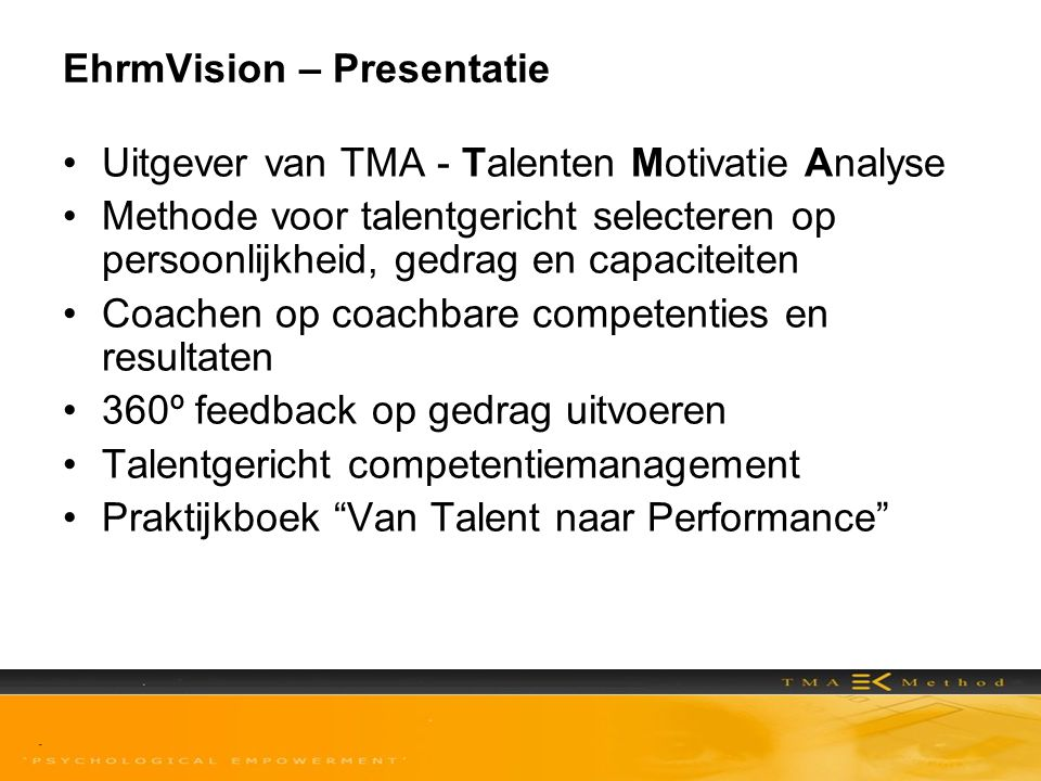 EhrmVision – Presentatie