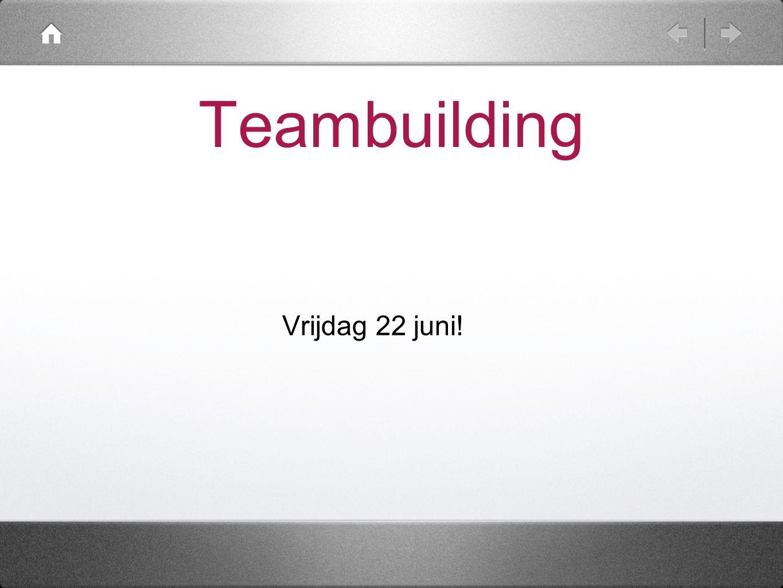 Teambuilding Vrijdag 22 juni!