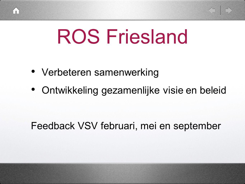 ROS Friesland Verbeteren samenwerking