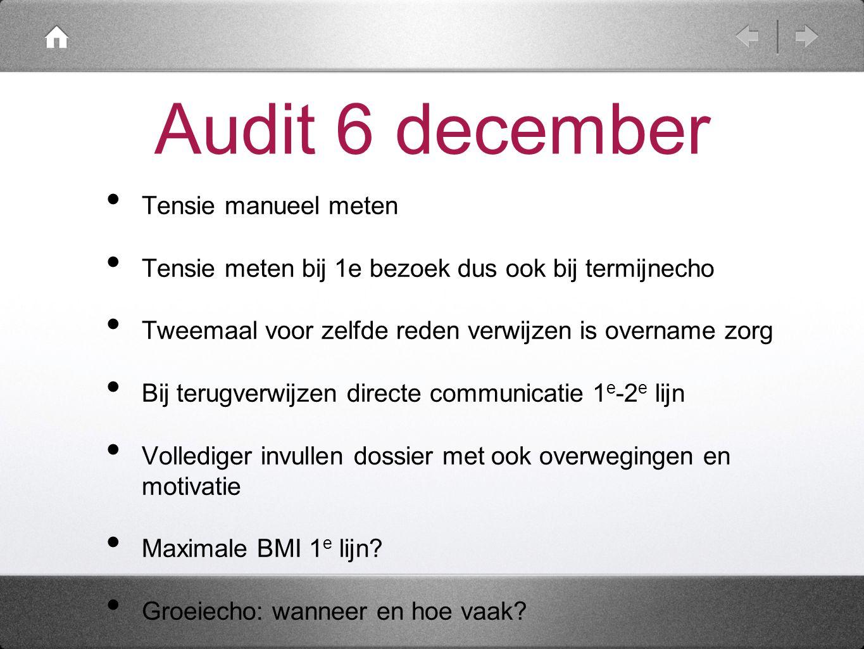 Audit 6 december Tensie manueel meten