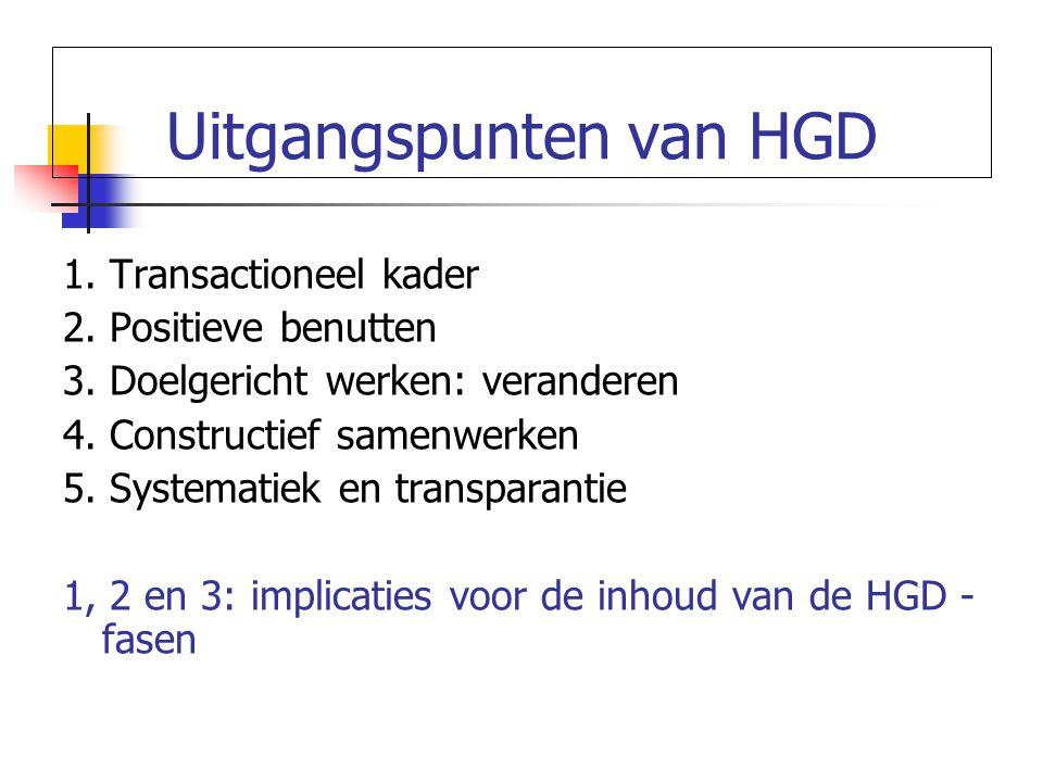 Uitgangspunten van HGD