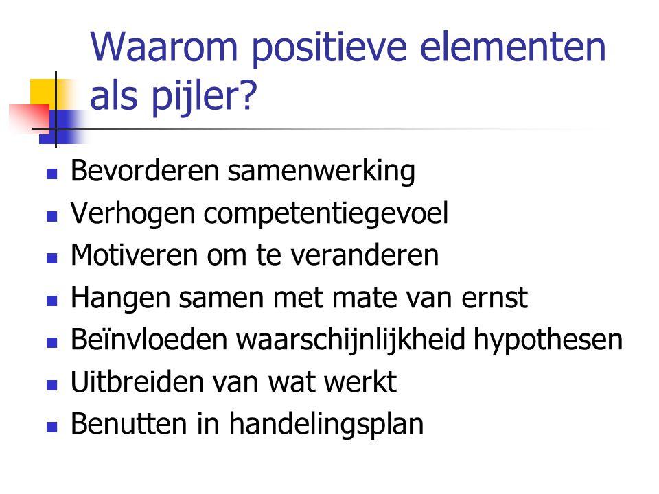 Waarom positieve elementen als pijler