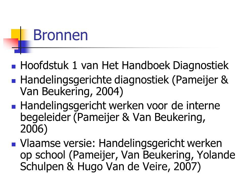 Bronnen Hoofdstuk 1 van Het Handboek Diagnostiek