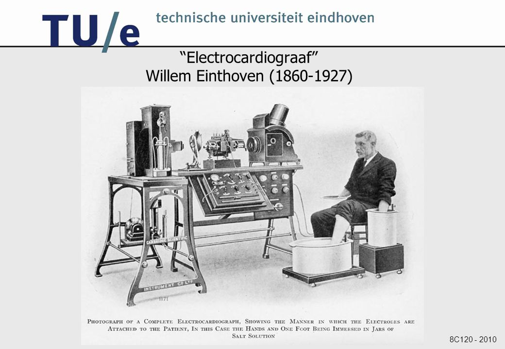 Electrocardiograaf Willem Einthoven (1860-1927)
