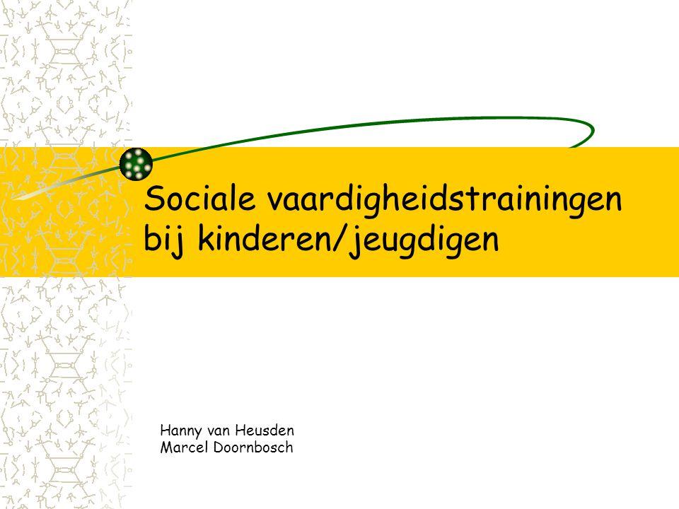 Sociale vaardigheidstrainingen bij kinderen/jeugdigen