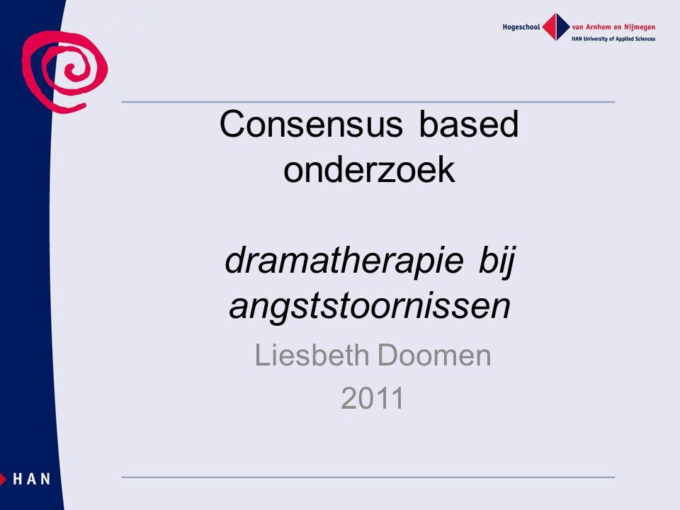 Consensus based onderzoek dramatherapie bij angststoornissen