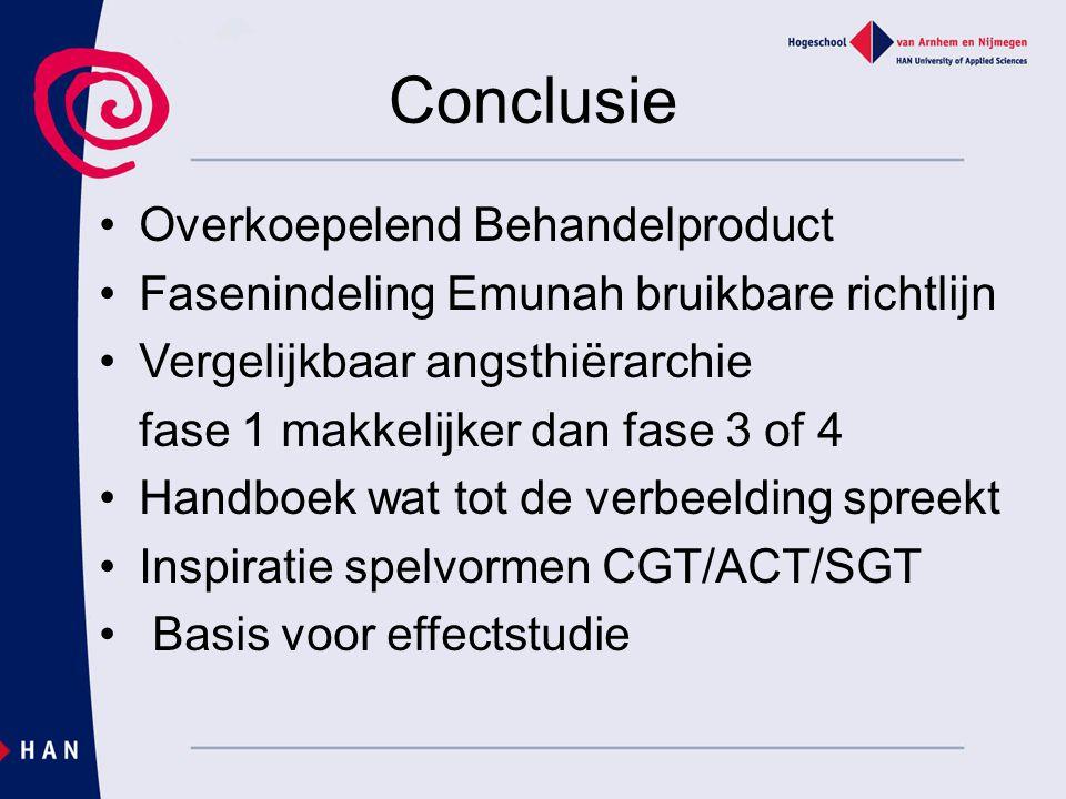 Conclusie Overkoepelend Behandelproduct