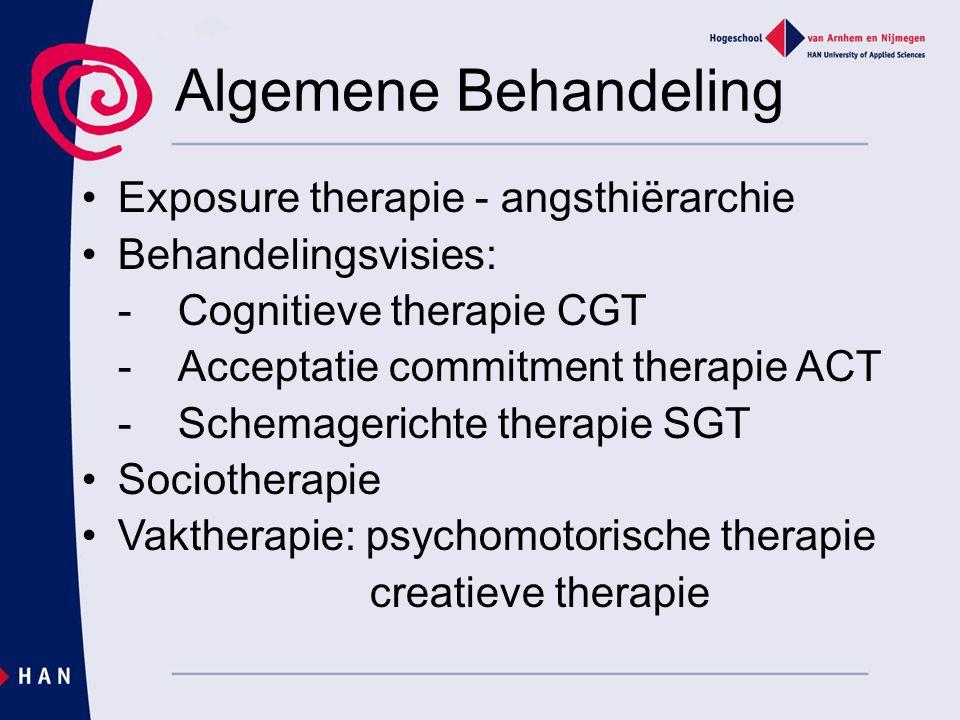 Algemene Behandeling Exposure therapie - angsthiërarchie