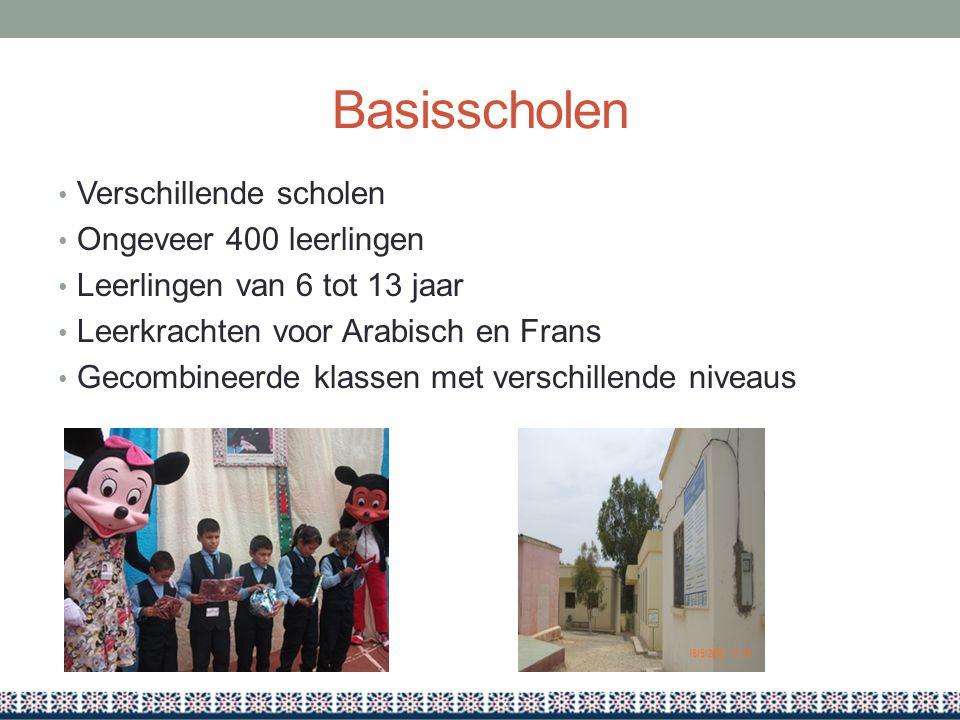 Basisscholen Verschillende scholen Ongeveer 400 leerlingen