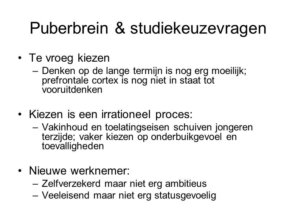 Puberbrein & studiekeuzevragen