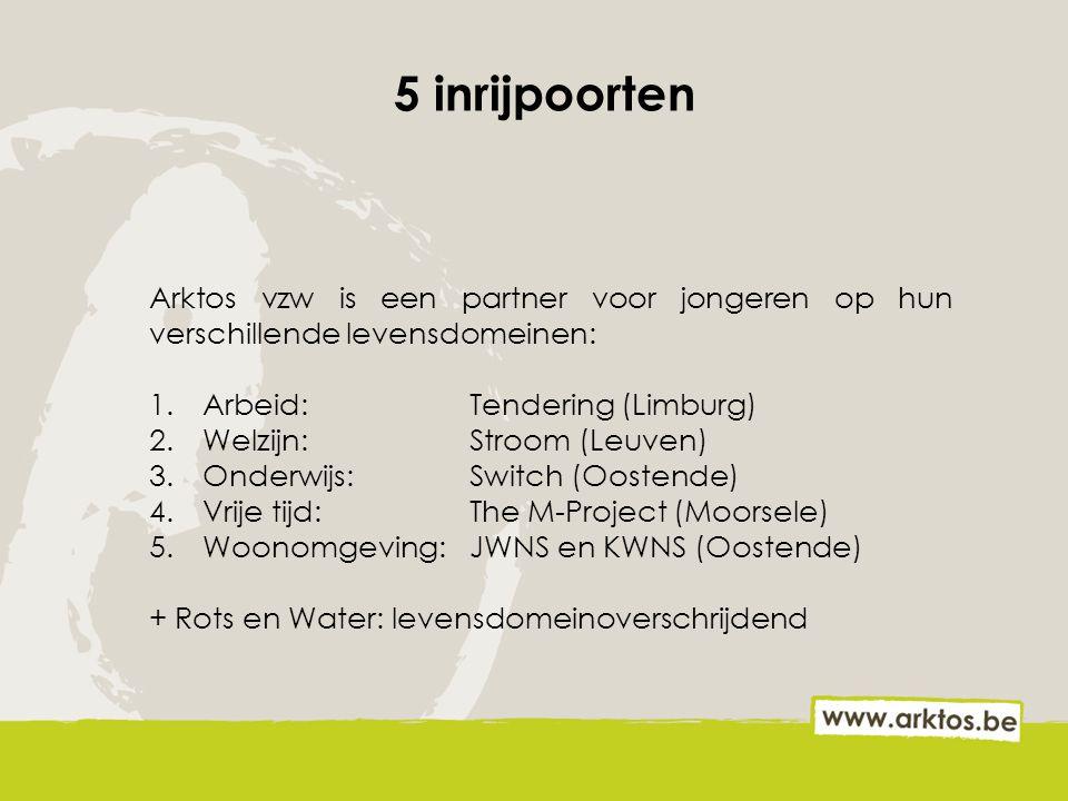 5 inrijpoorten Arktos vzw is een partner voor jongeren op hun verschillende levensdomeinen: Arbeid: Tendering (Limburg)