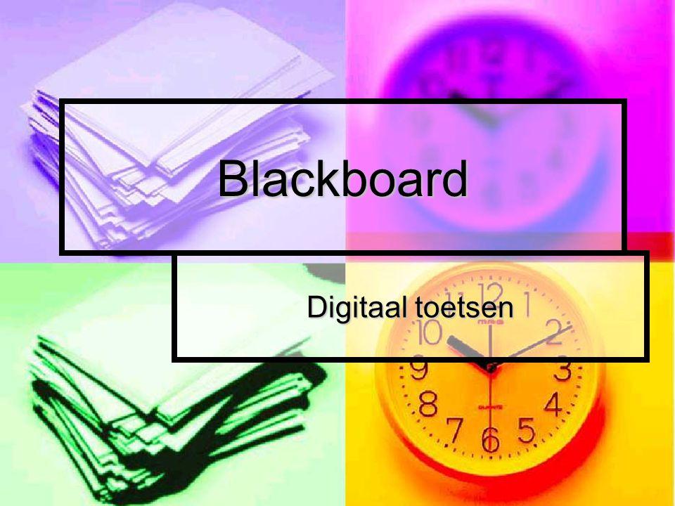 Blackboard Digitaal toetsen