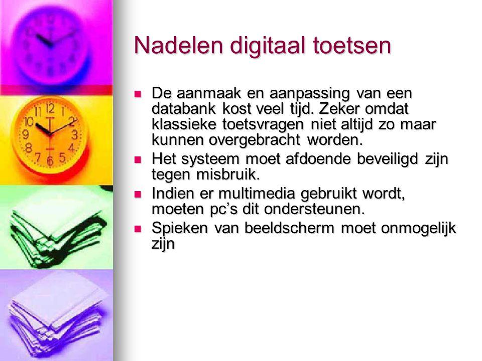 Nadelen digitaal toetsen