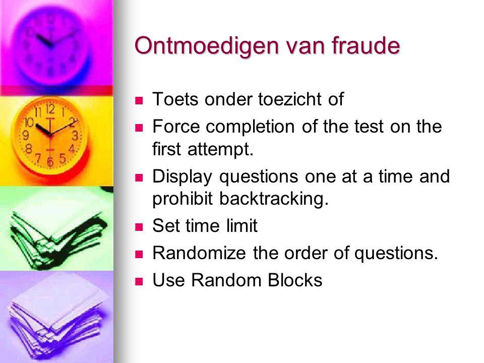 Ontmoedigen van fraude