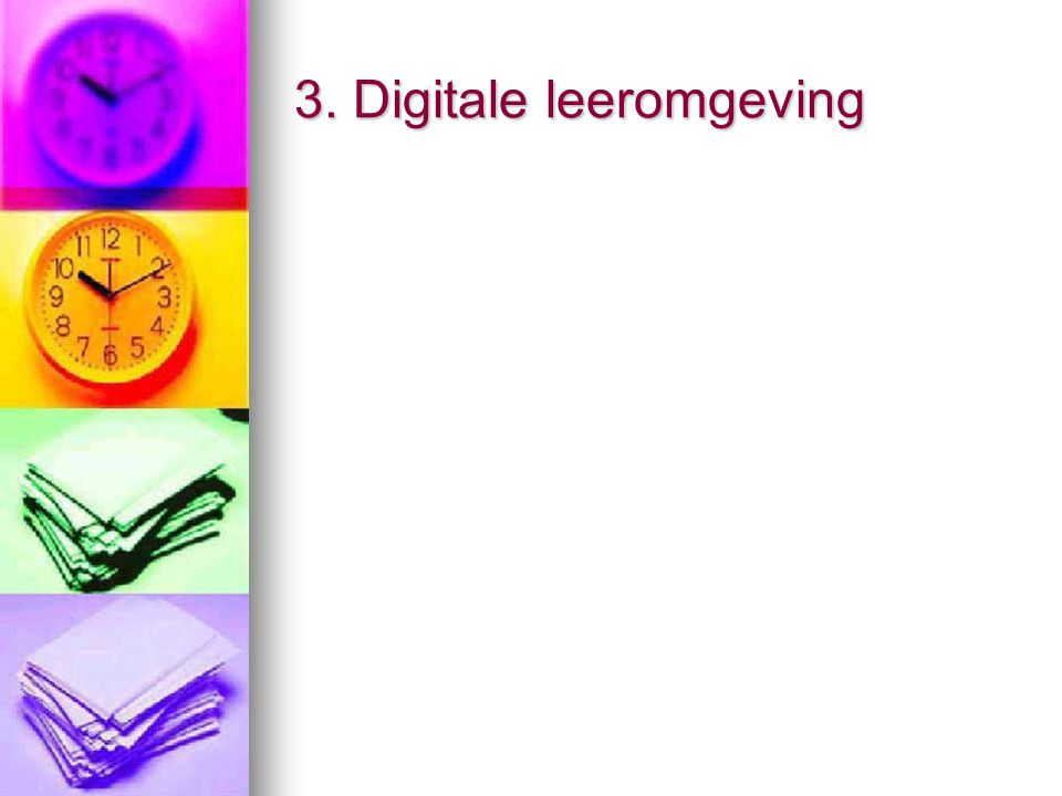 3. Digitale leeromgeving
