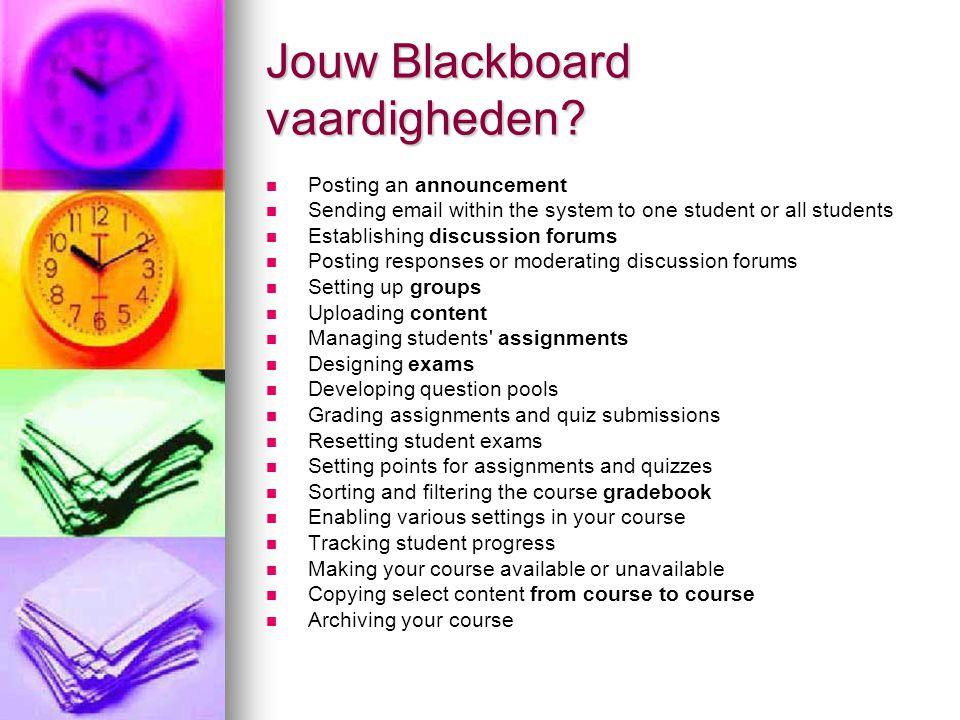 Jouw Blackboard vaardigheden