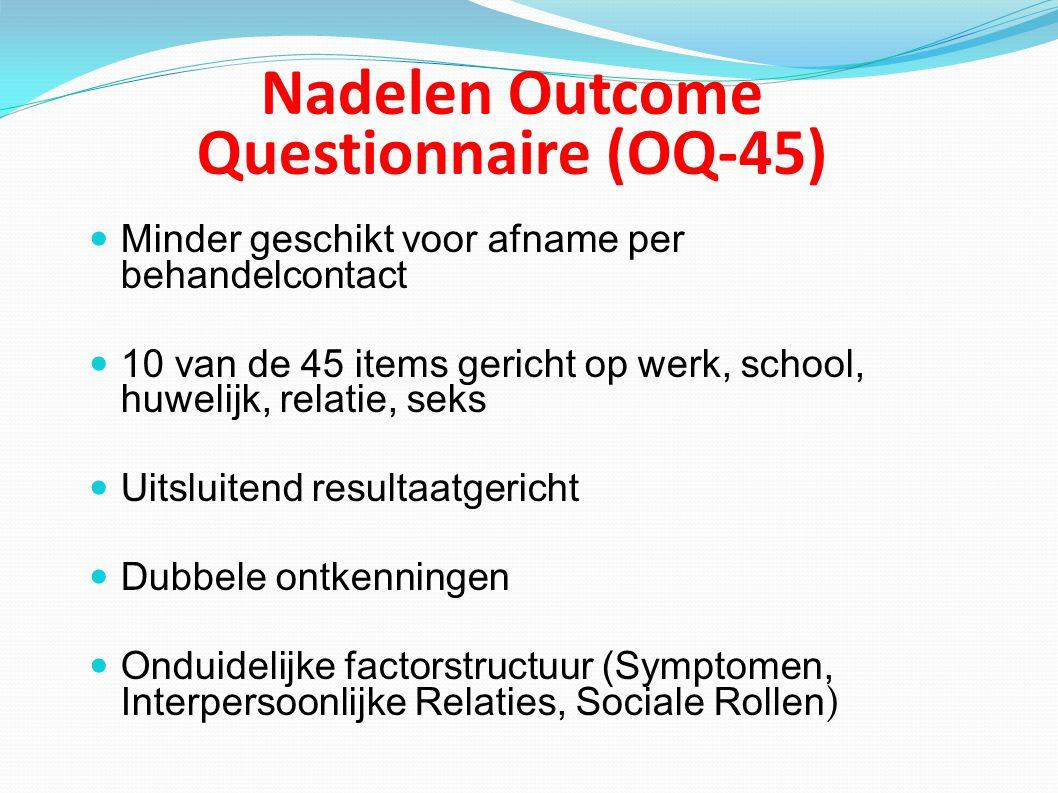 Nadelen Outcome Questionnaire (OQ-45)