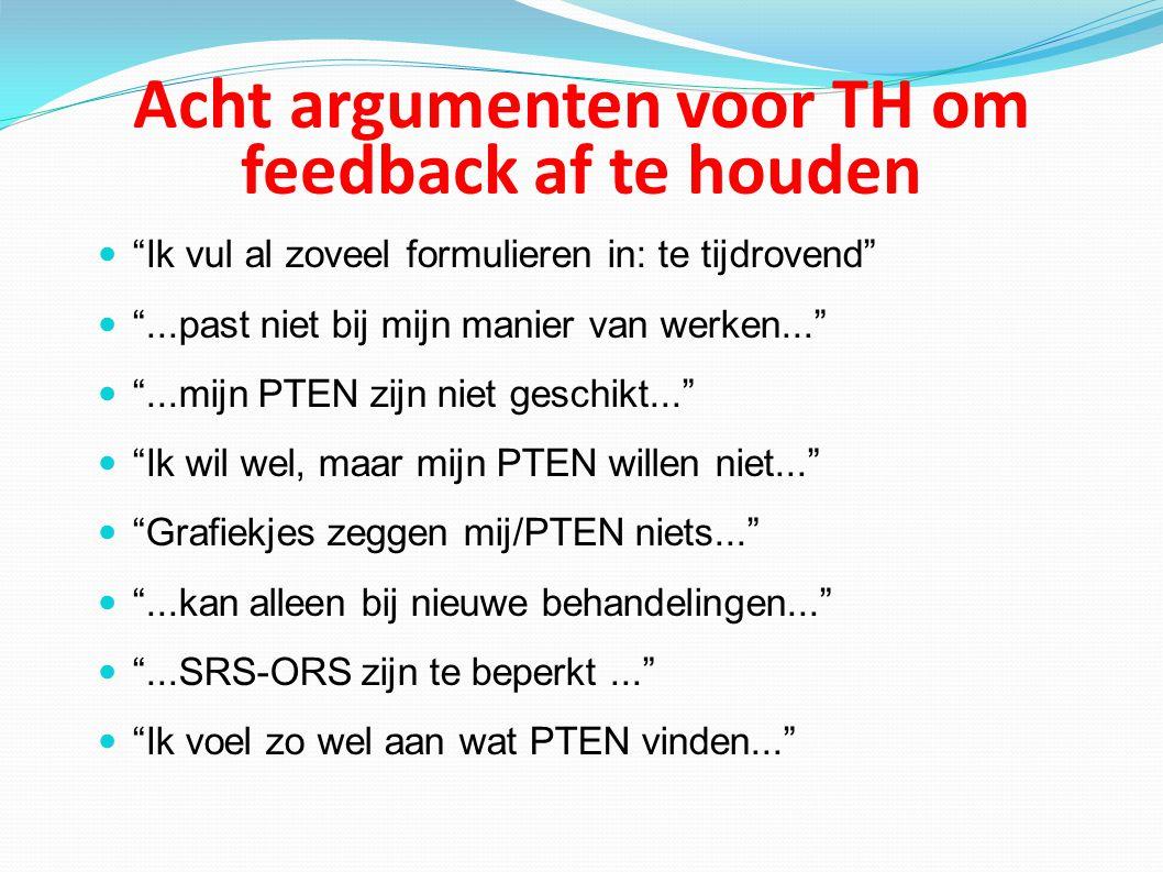 Acht argumenten voor TH om feedback af te houden