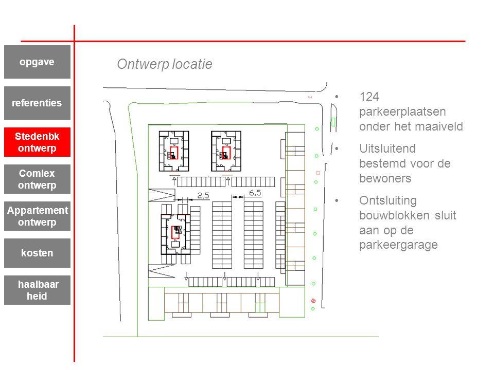 Ontwerp locatie 124 parkeerplaatsen onder het maaiveld