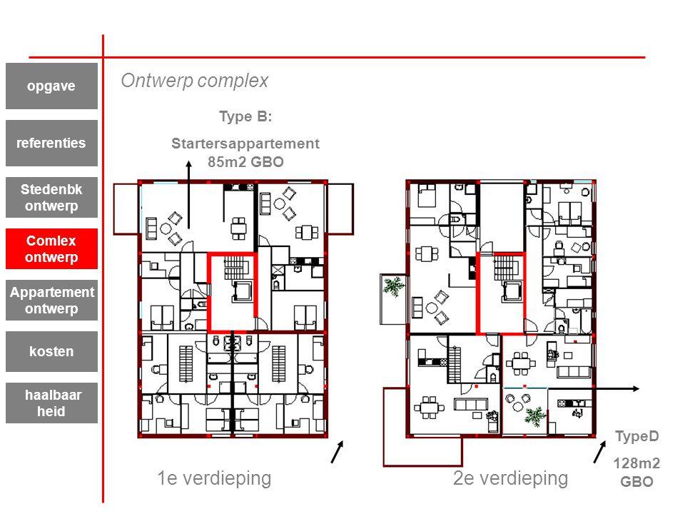 Startersappartement 85m2 GBO
