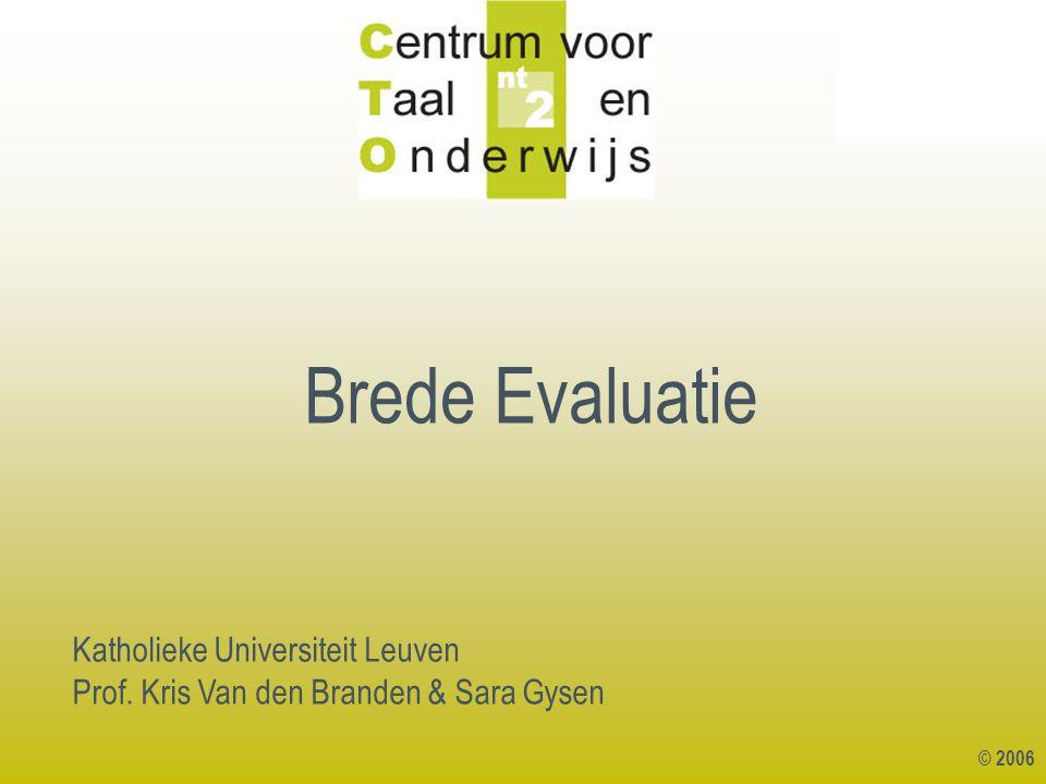 Brede Evaluatie Katholieke Universiteit Leuven