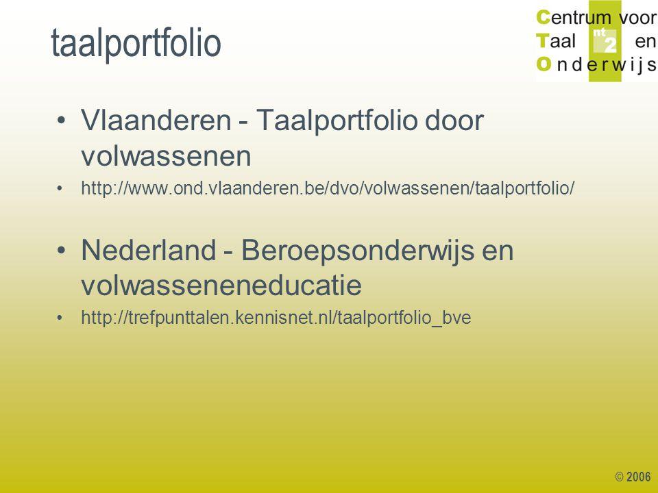 taalportfolio Vlaanderen - Taalportfolio door volwassenen