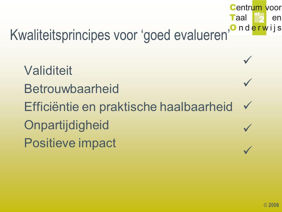 Kwaliteitsprincipes voor 'goed evalueren'