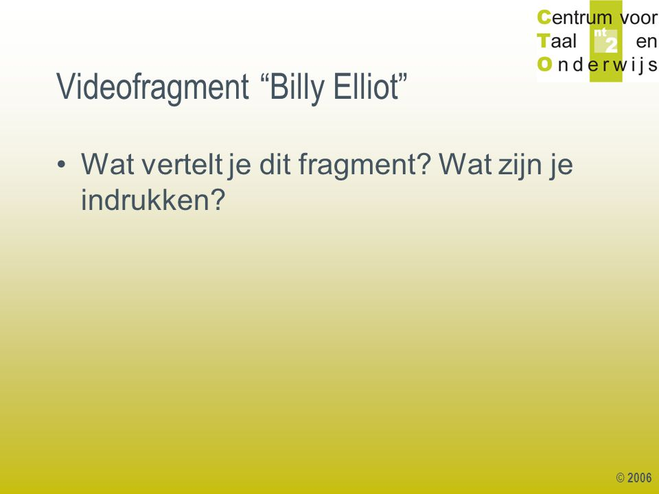 Videofragment Billy Elliot