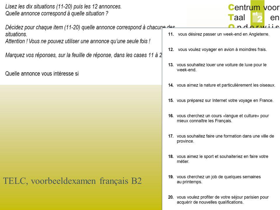 TELC, voorbeeldexamen français B2