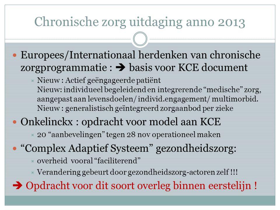 Chronische zorg uitdaging anno 2013
