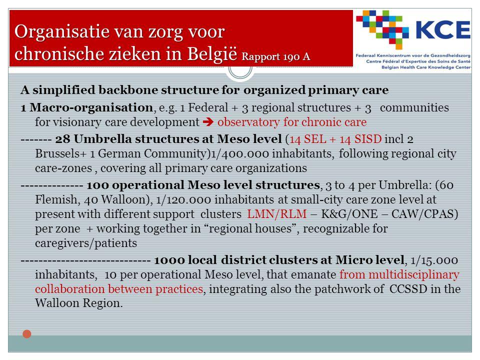 Organisatie van zorg voor chronische zieken in België Rapport 190 A