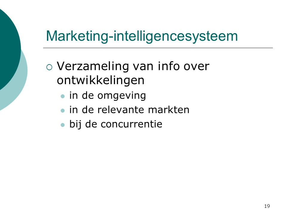 Marketing-intelligencesysteem