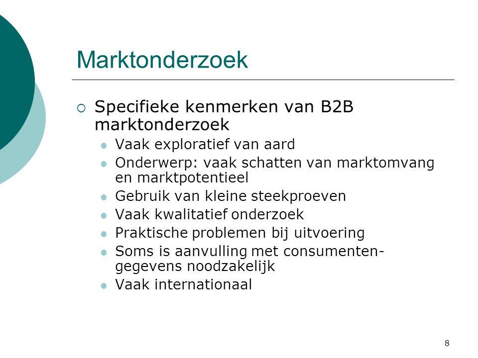 Marktonderzoek Specifieke kenmerken van B2B marktonderzoek