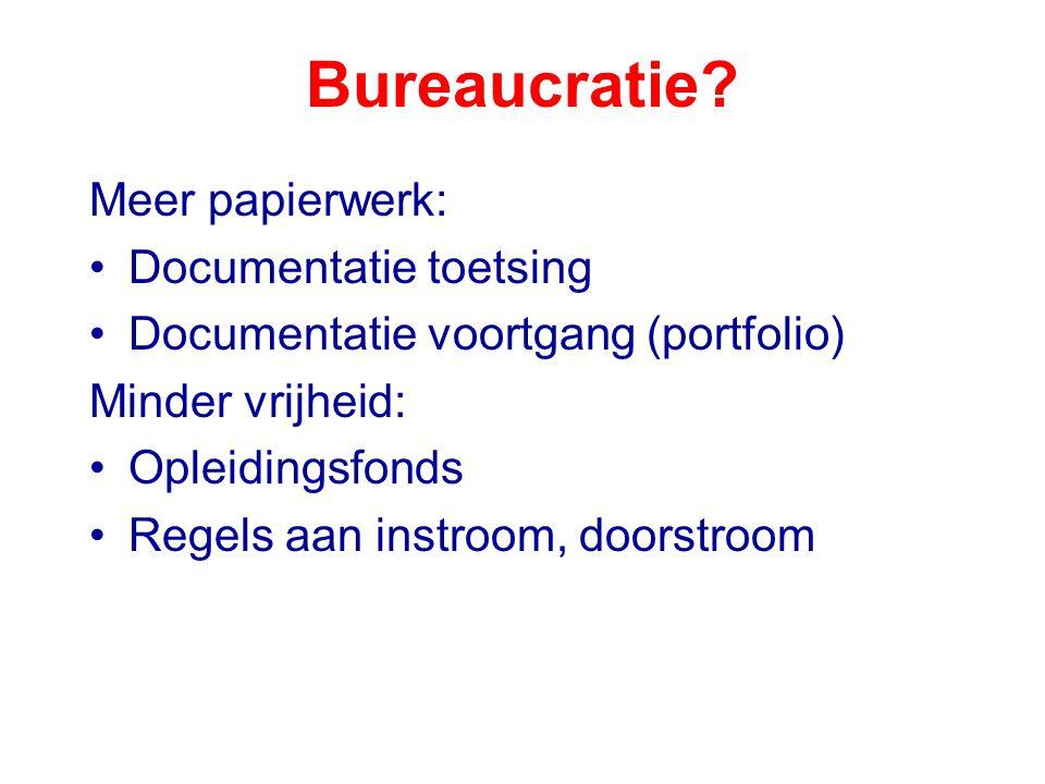 Bureaucratie Meer papierwerk: Documentatie toetsing
