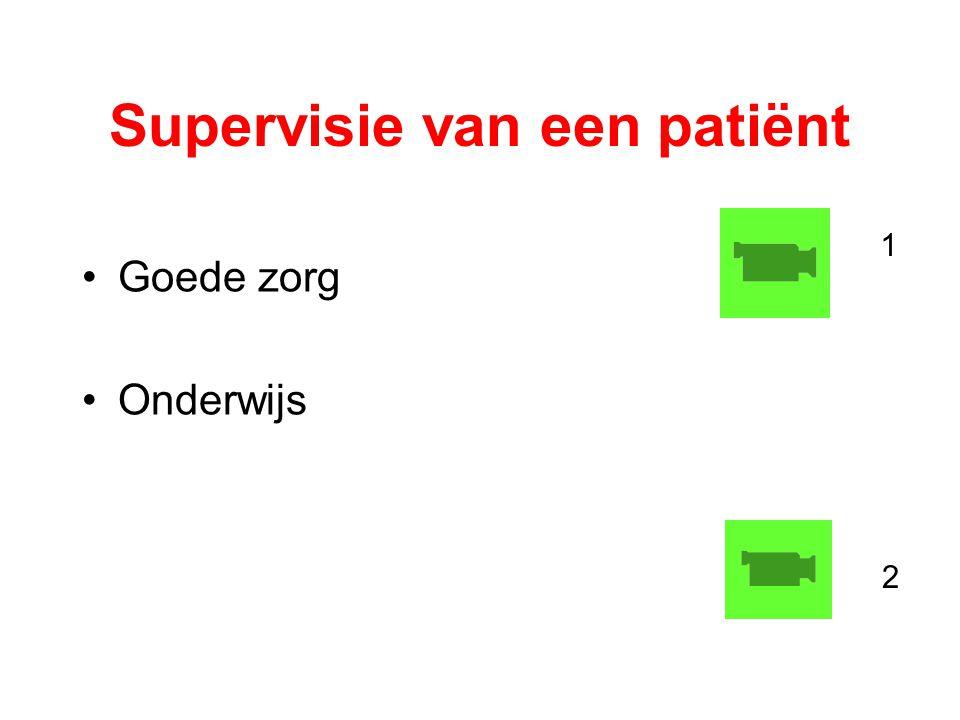 Supervisie van een patiënt