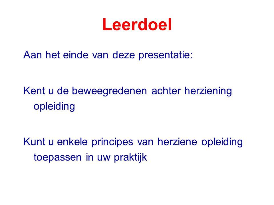 Leerdoel Aan het einde van deze presentatie: