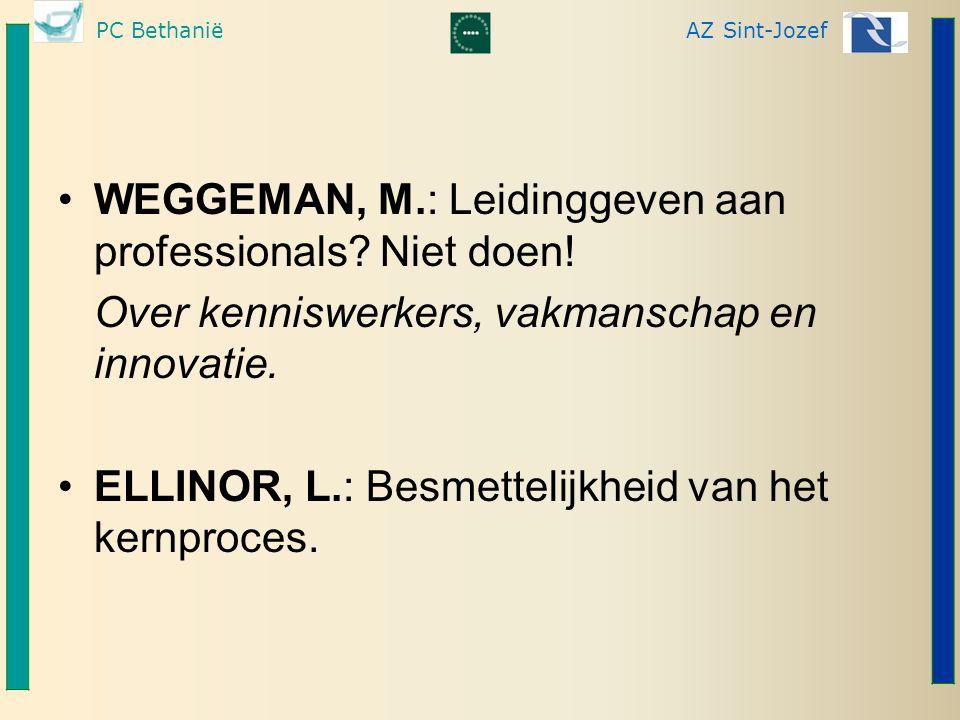 WEGGEMAN, M.: Leidinggeven aan professionals Niet doen!