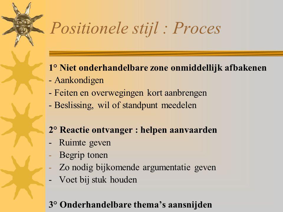 Positionele stijl : Proces
