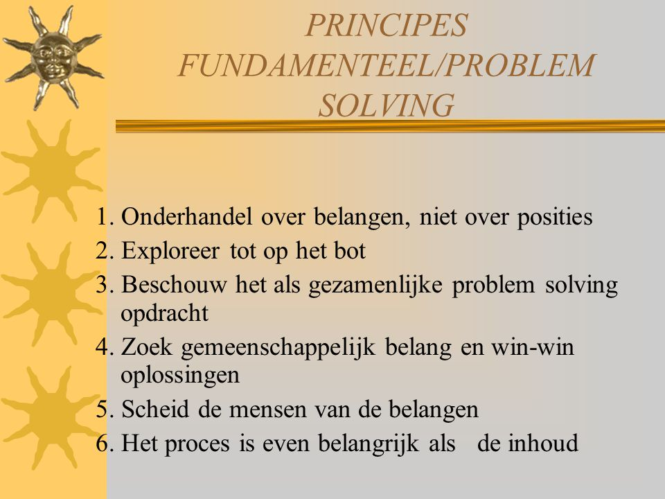PRINCIPES FUNDAMENTEEL/PROBLEM SOLVING
