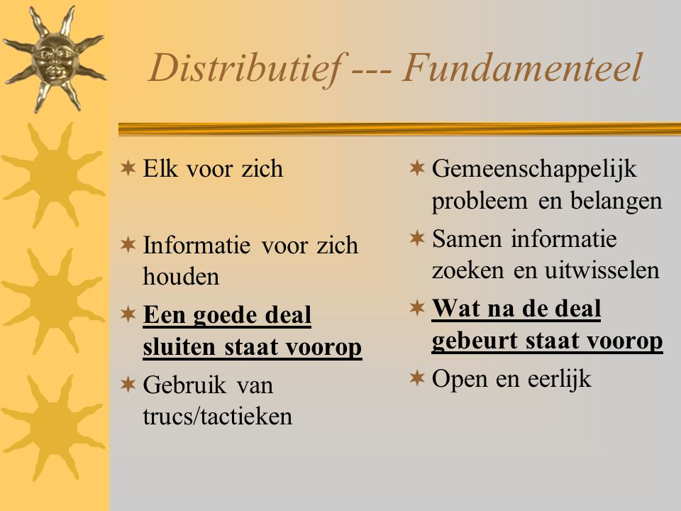 Distributief --- Fundamenteel