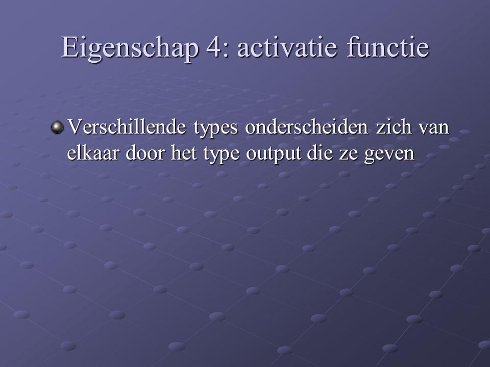 Eigenschap 4: activatie functie
