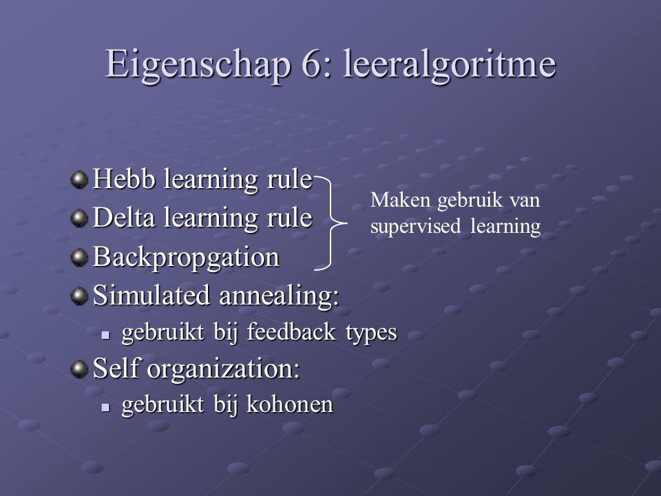Eigenschap 6: leeralgoritme