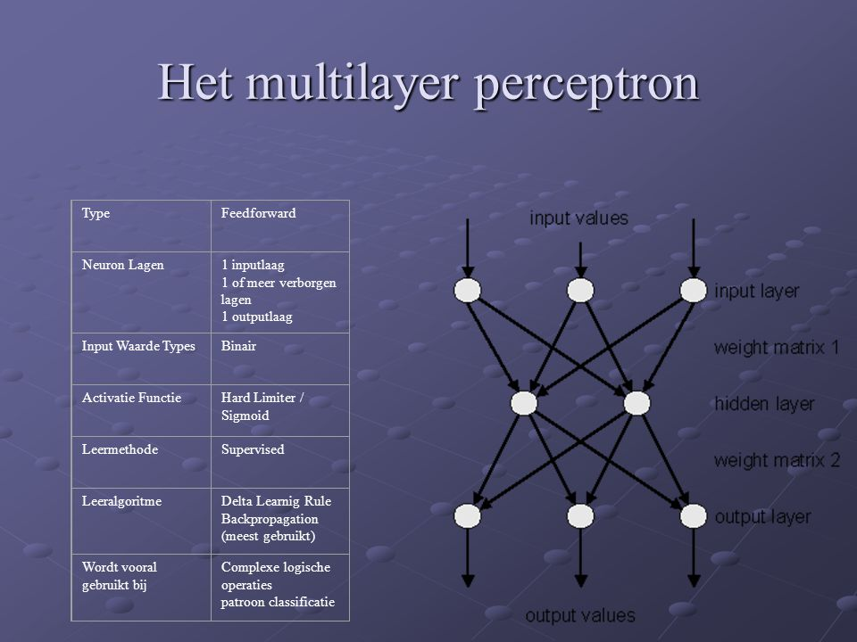 Het multilayer perceptron