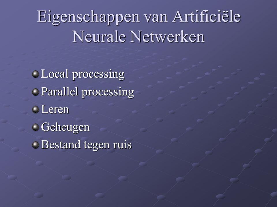 Eigenschappen van Artificiële Neurale Netwerken