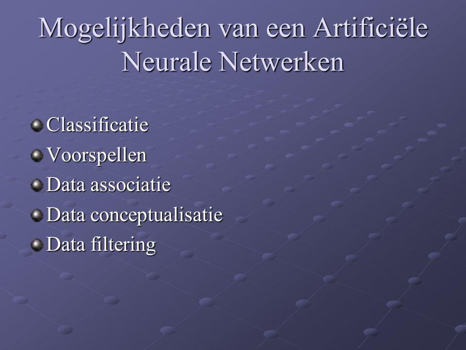 Mogelijkheden van een Artificiële Neurale Netwerken