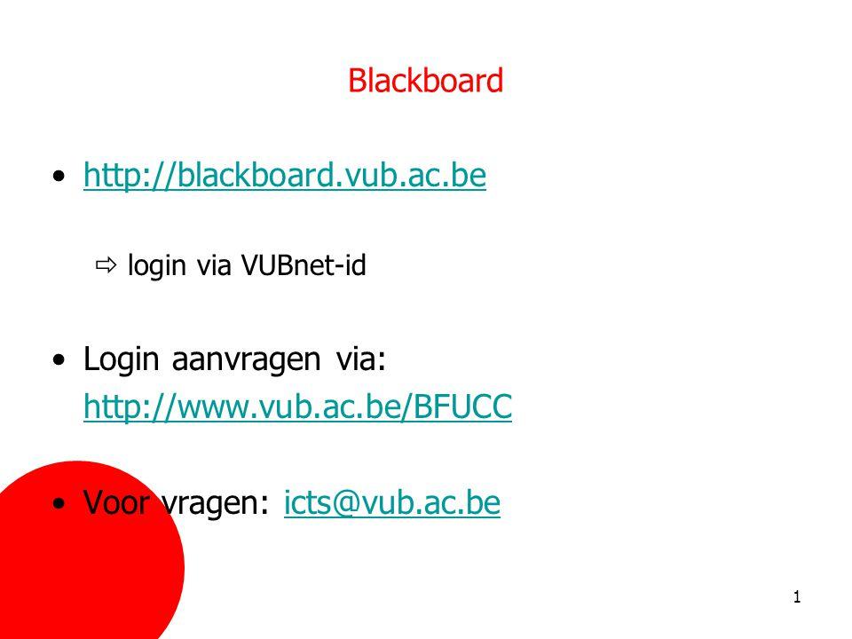 Voor vragen: icts@vub.ac.be