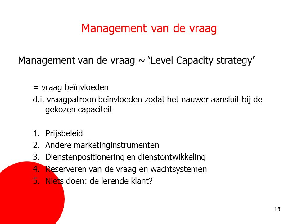 Management van de vraag