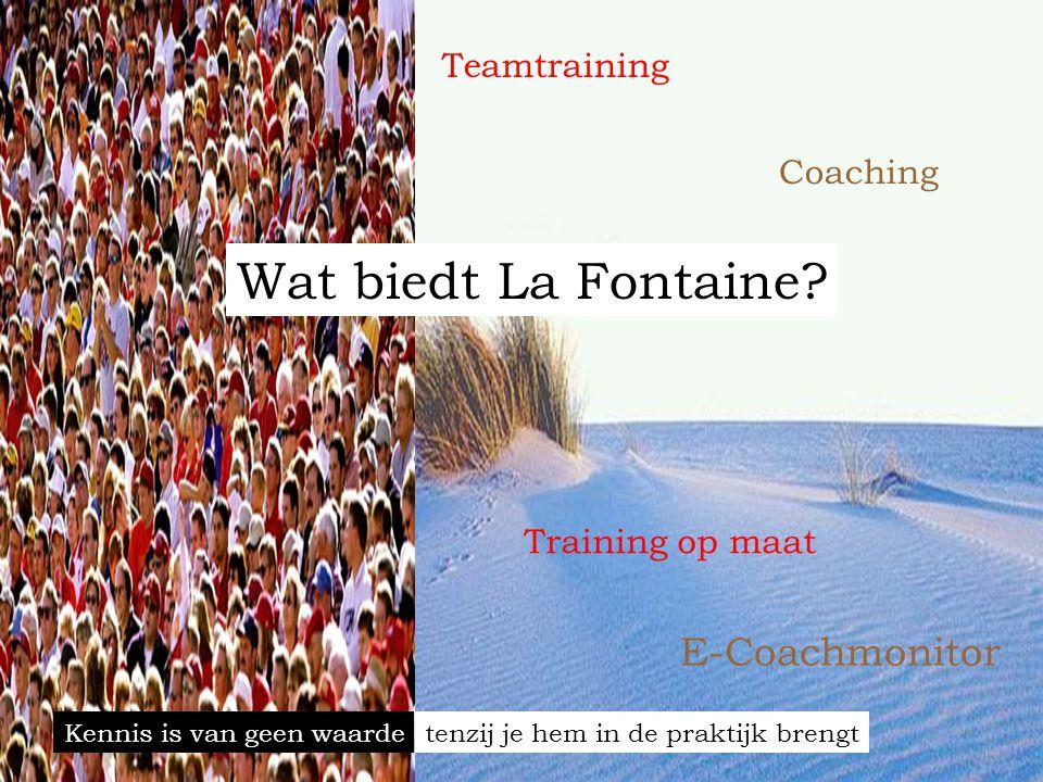 Wat biedt La Fontaine E-Coachmonitor Teamtraining Coaching