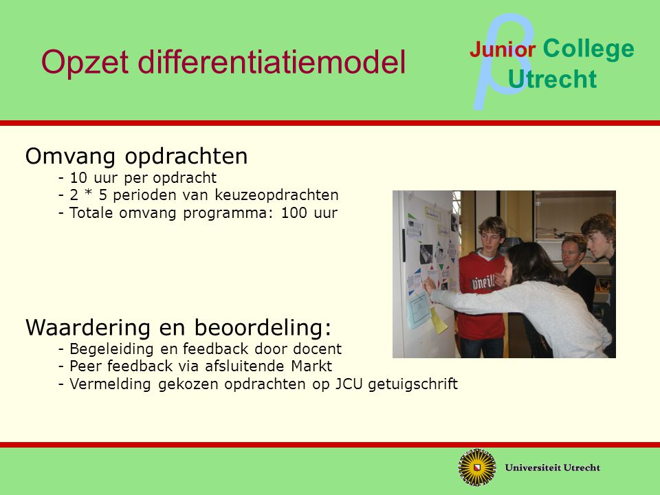 Opzet differentiatiemodel